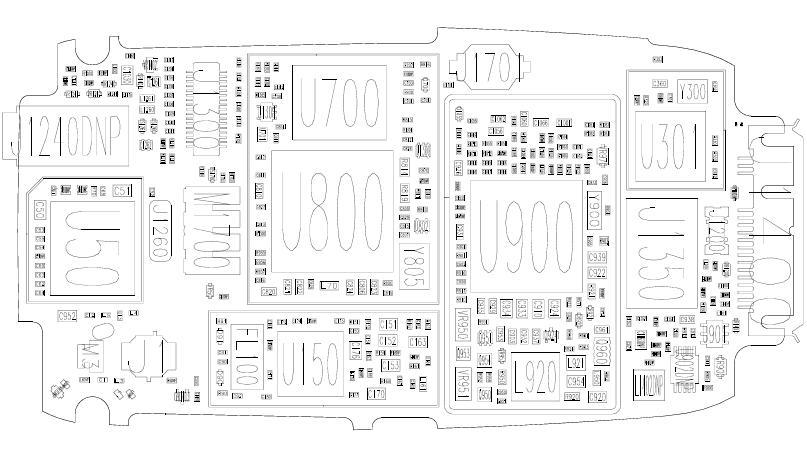 Схема боксов E398